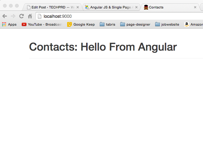Angular JS App
